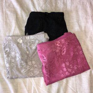 Pretty lace high waist control panties
